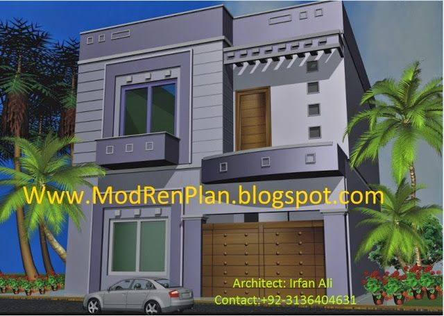 Modern Front Elevation Home Design, House Designs Front Pakistan