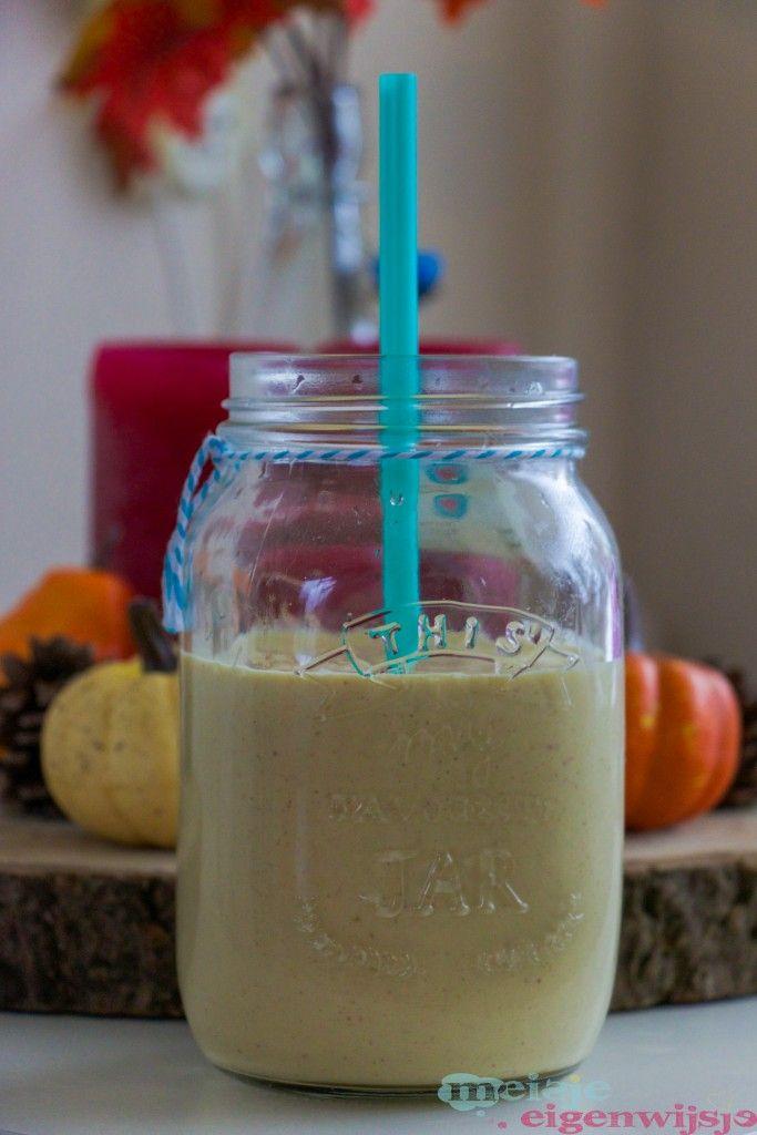 Herfstachtige pompoen-appel ontbijt smoothie - Meisje Eigenwijsje <3