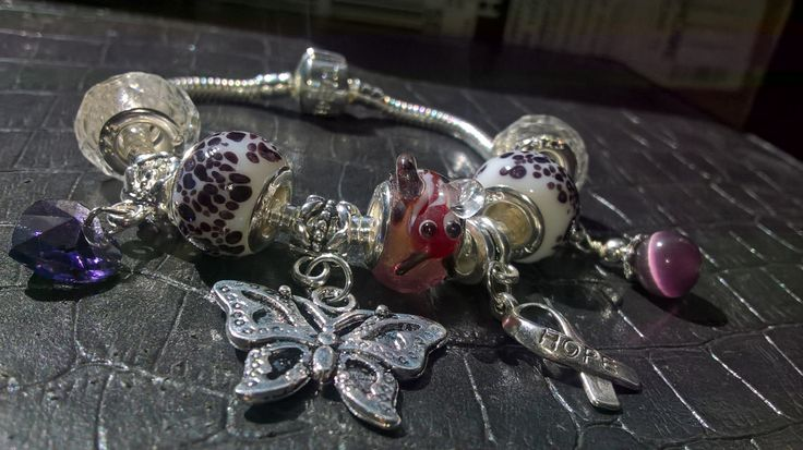 fibromyalgia theme Pandora style charm bracelet by PetitechicboutiqueGB on Etsy
