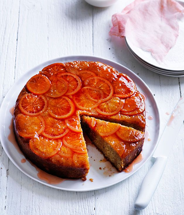 blood orange and hazelnut cake