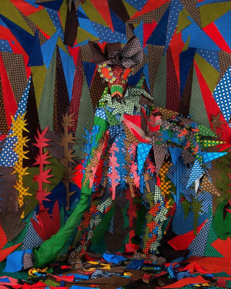 """2016- Siwa Mgoboza """"Les Etres D'Africadia III: Fruszina Porcupina"""" Inkjet Photographic Epson on Paper"""