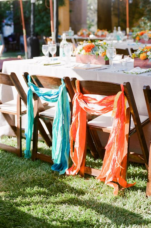 Loveeee these colors and this idea for our chairs! :)