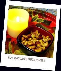Holiday Love Nuts Recipe - spicy and sweet, made with love for those you love. http://www.patheos.com/blogs/voodoouniverse/2013/12/holiday-love-nuts-recipe/