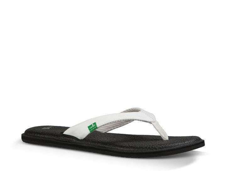 252213556f5893 Sanuk Yoga Mat Chakra Sandals for Women in White SWS10577-WHT