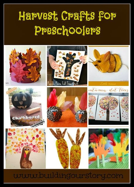 #Harvest and #Thanksgiving #Crafts for Preschoolers