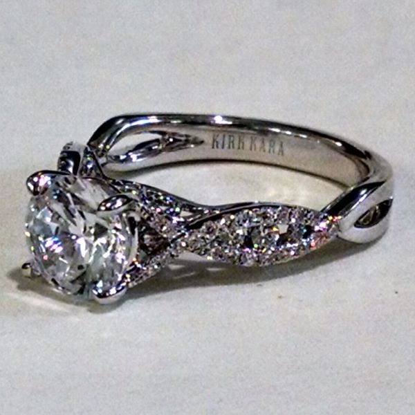 A new Twist on a Vintage Look. Kirk Kara Engagement Ring at BenGarelick.com.