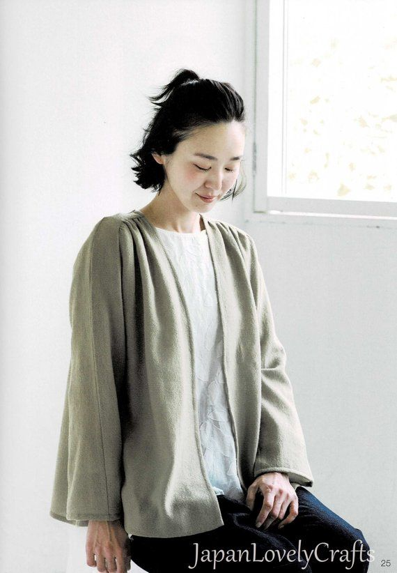 Comfortable Jacket coat patterns, Japanese sewing pattern for woman outfit clothing, Easy sewing tutorial for all seasons design clothes #sew #sewing #sewingprojects #sewingpatterns #sewingtutorials #sewingclothes #handmadeclothing #handmadeclothes #pattern #tutorial #etsy #etsyfinds #craft #japanlovelycrafts