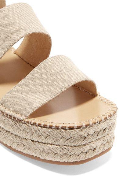 rag & bone - Tara Canvas Espadrille Platform Sandals - Neutral - IT40