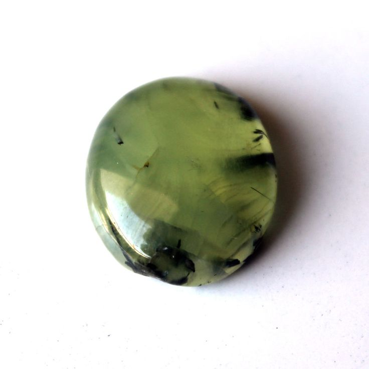 pcs cabochon natural prehnite gemstone green rutile pin