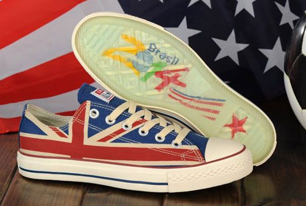 e81c7d7b0e76 Converse Chuck Taylor Distressed Union Jack All Star British Flag Canvas  Low Sneakers Brazil World Cup  converse  shoes