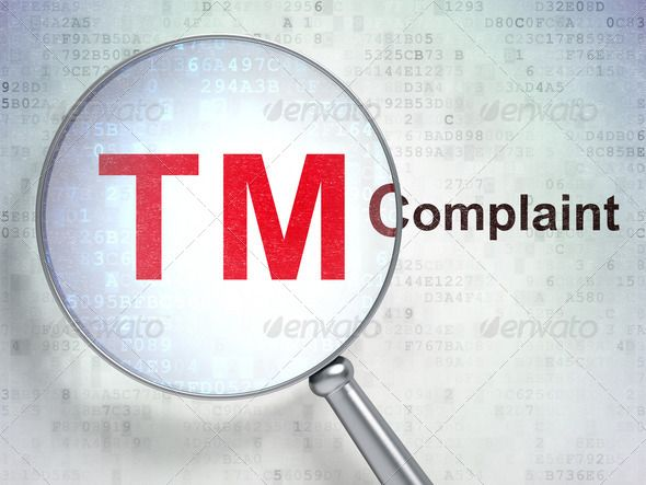 Law concept: Trademark and Complaint with optical glass ...  3d, abstract, author, binary, business, code, complaint, concept, confidential, copyright, court, data, defend, digital, digital background, enforcement, enlarge, family, human, icon, information, insurance, international, justice, law, legal, lens, license, loupe, magnifier, mark, ownership, patent, piracy, property, protect, red, register, reservation, reserved, rights, rules, symbol, tech, technology, text, trade, trademark…