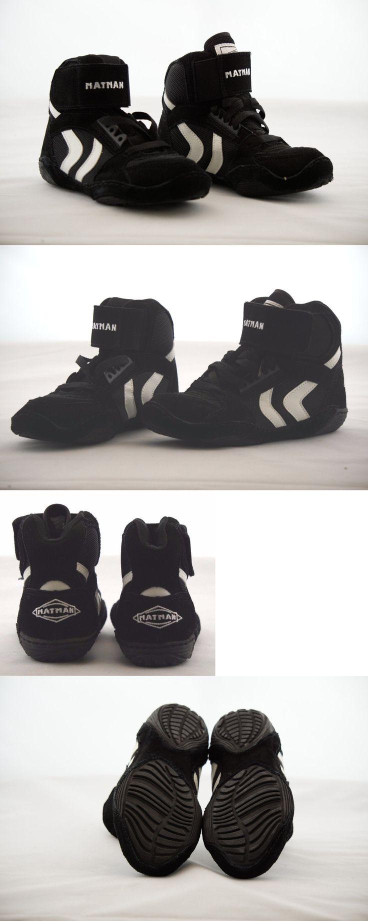 Footwear 79799: Nib Matman Youth Wrestling Shoes, S025, Black White, Suede Upper, Split Sole -> BUY IT NOW ONLY: $49.95 on eBay!