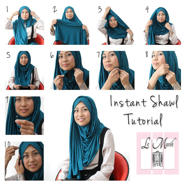 Lemarih Instant Shawl Tutorial Hijab Tutorial How To Wear Hijab Hijab Fashion Cute766