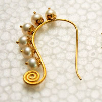Indian Jewellery and Clothing: Indian nose ring/nathu