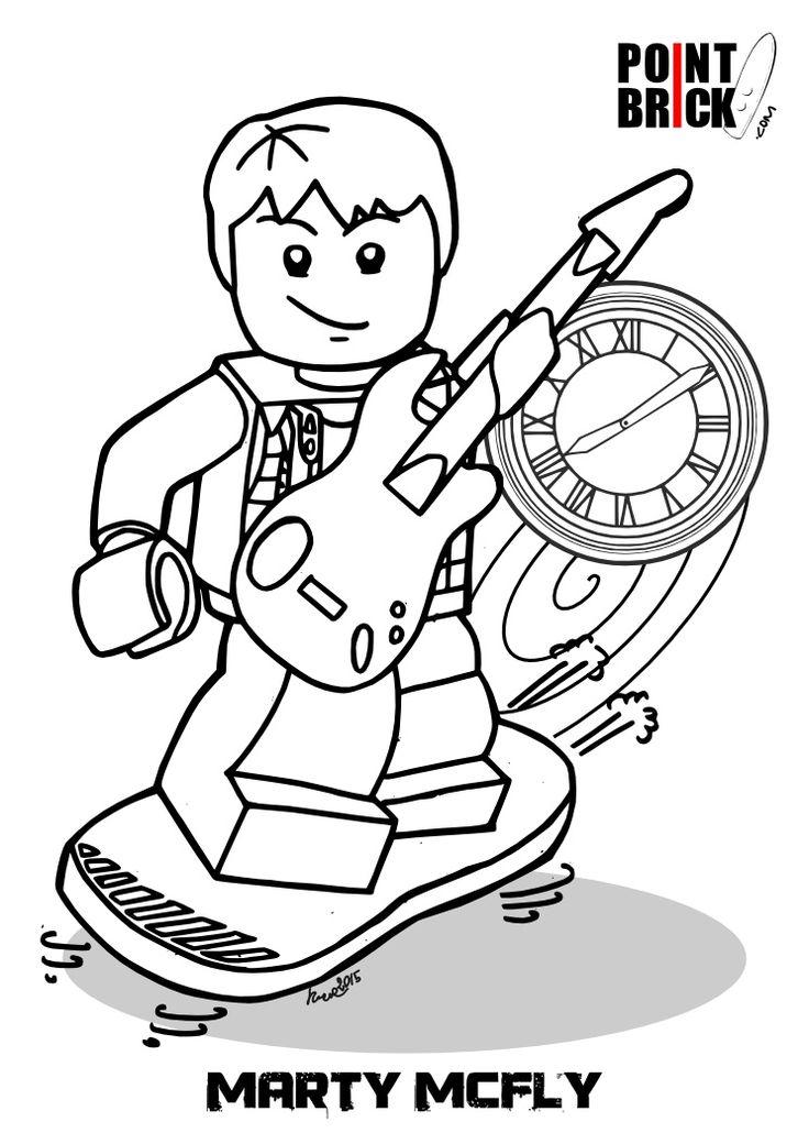 disegni lego dimensions portal e ritorno al futuro lego coloring pageslego