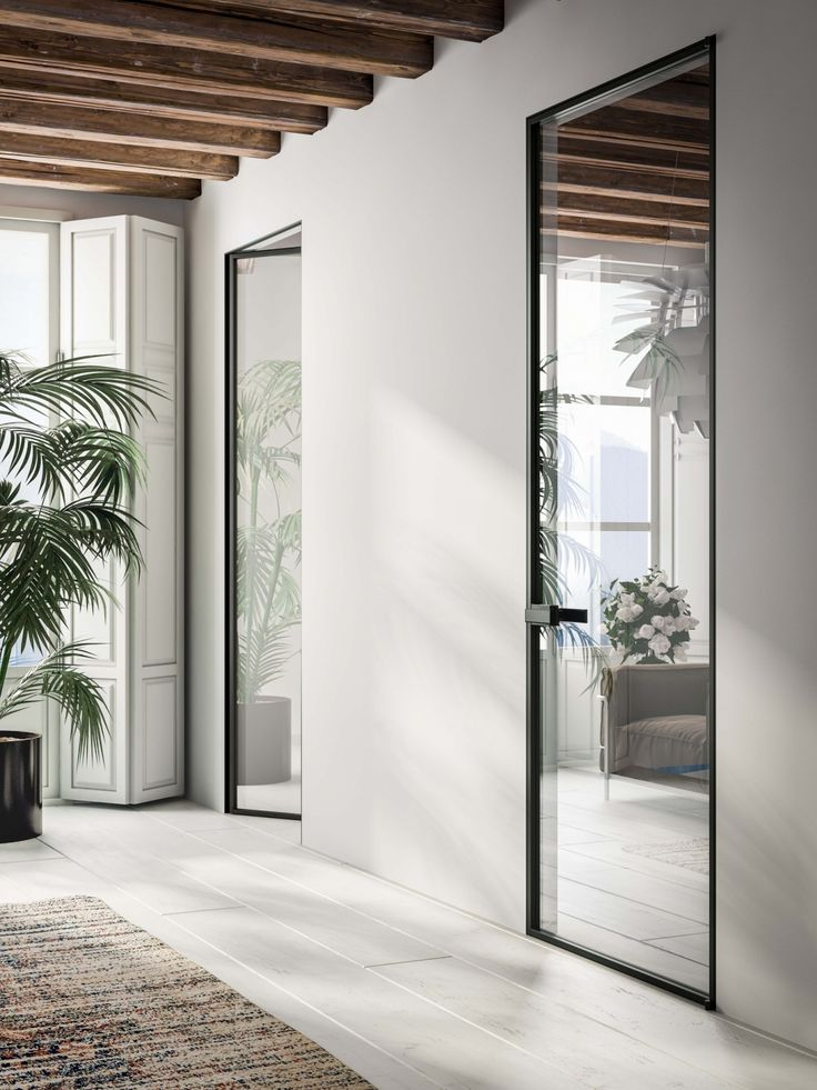 The Mitika Internal Door is a beautiful glass internal door system perfect for modern homes. With a slim aluminium frame and a vast range of glass finishes you can create a unique design to your doors.