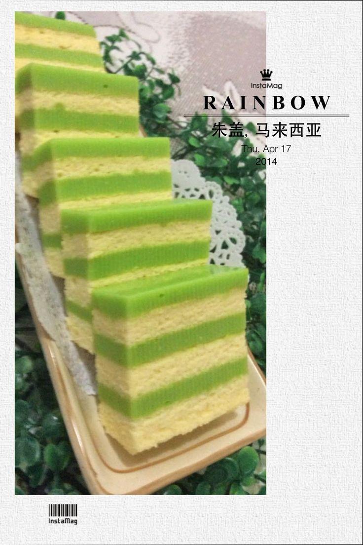 枫林温馨花园 Maple Grace Garden : ~~ Pandan Layer Cake ❤ 香兰千层蛋糕 ~~