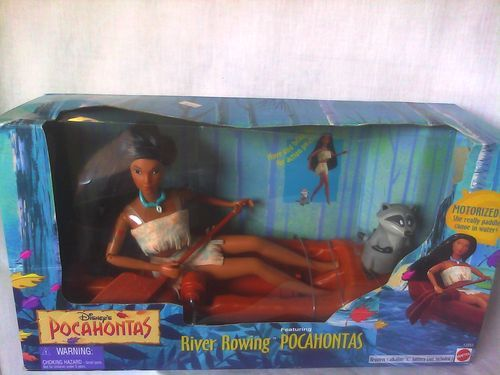 Vintage 1995 Disney's River Rowing Pocahontas Barbie Size Doll Playset New | eBay