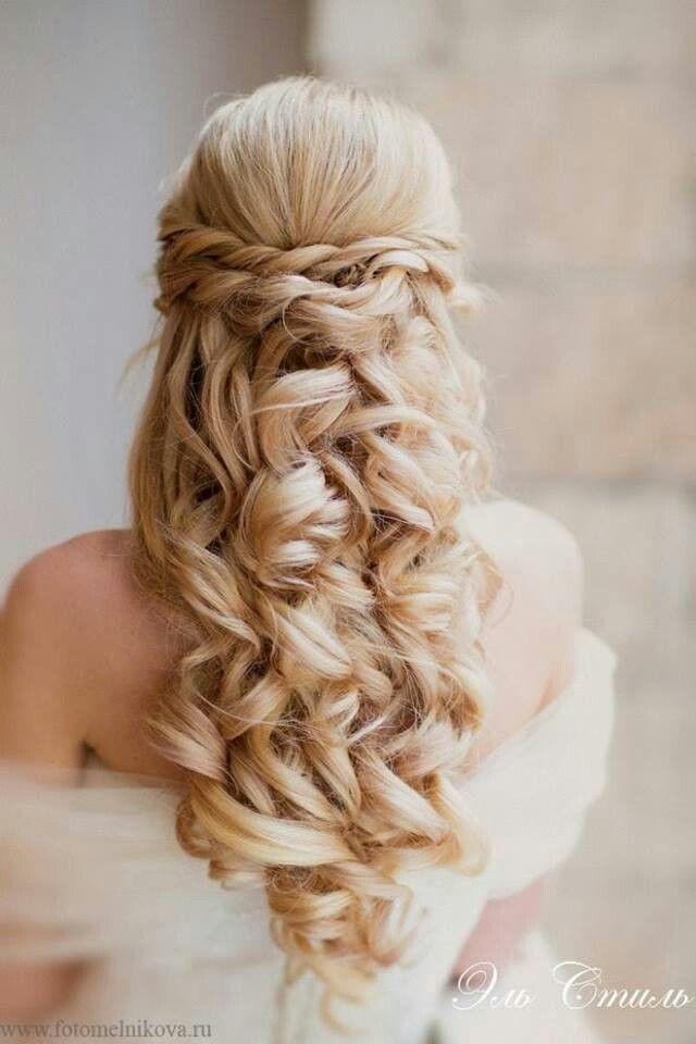 お嬢様風のふわふわ編み込みダウンスタイル♡ Aライン・プリンセスドレスに合う編み込みヘアの髪型まとめ。ウェディング参考用。