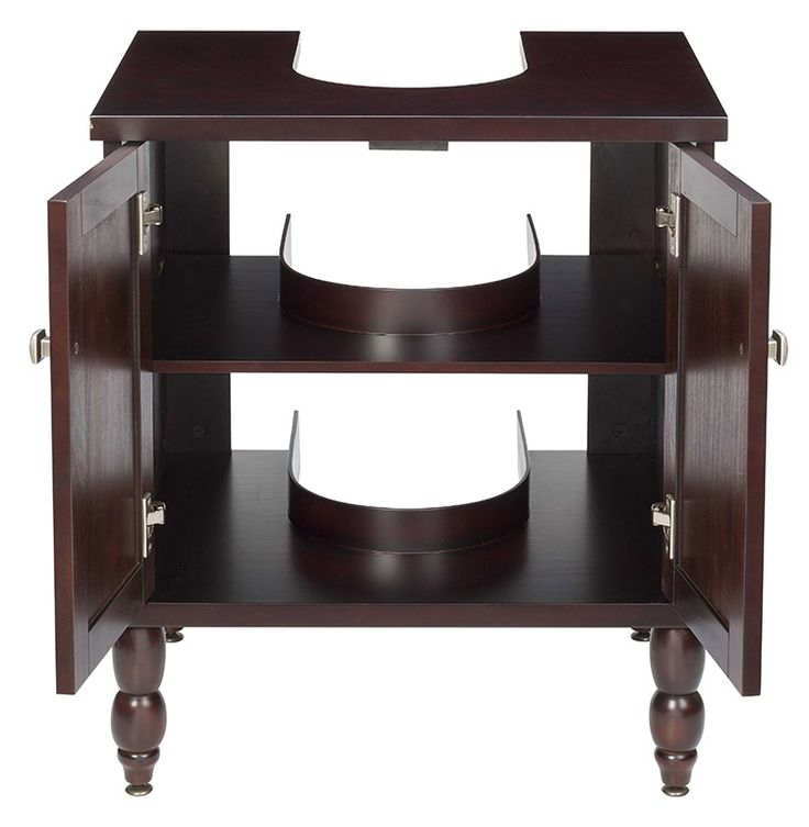 SinkWrap vanity cabinet is our storage solution for bathrooms with pedestal sinks.