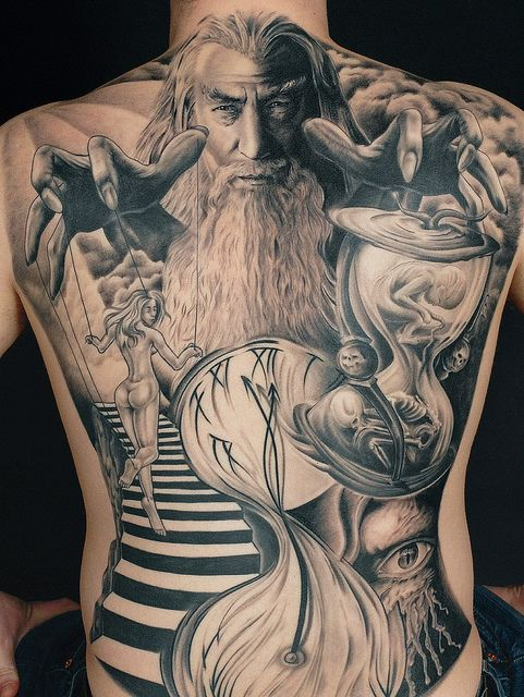 Black & Grey Tattoo by Needles and Sins