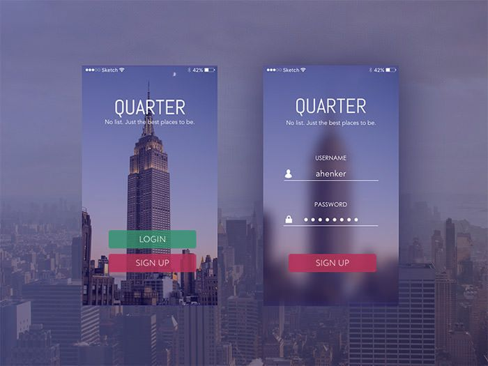 30 #Mobile Login and Signup Forms For Your #Inspiration