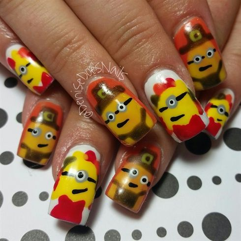 Minion Thanksgiving by dcgroves from Nail Art Gallery