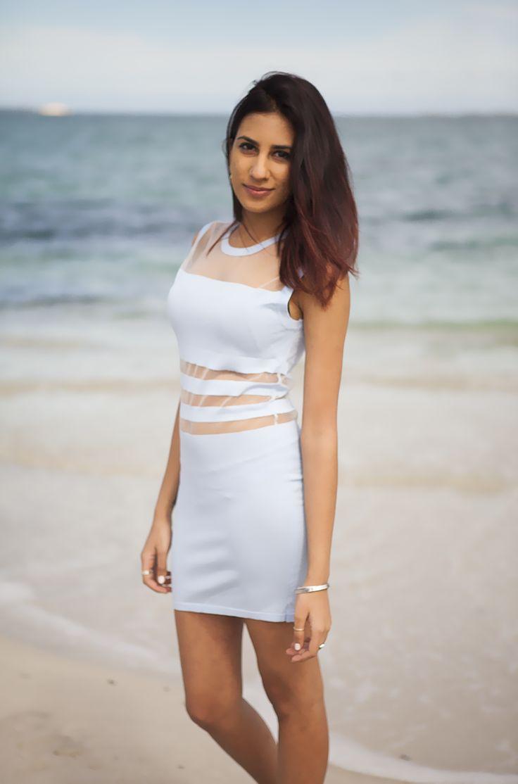 Horizon Mesh Dress - AU$38  Shop: http://www.leftlanevintage.com/products/details/horizon-mesh-dress
