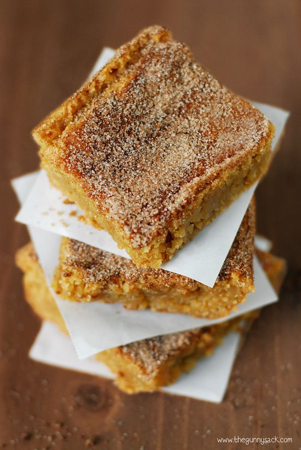 This Brown Butter Snickerdoodle Blondies recipe is fabulous! They have a dense, moist center, the top is a little crunchy and the flavor is perfect.