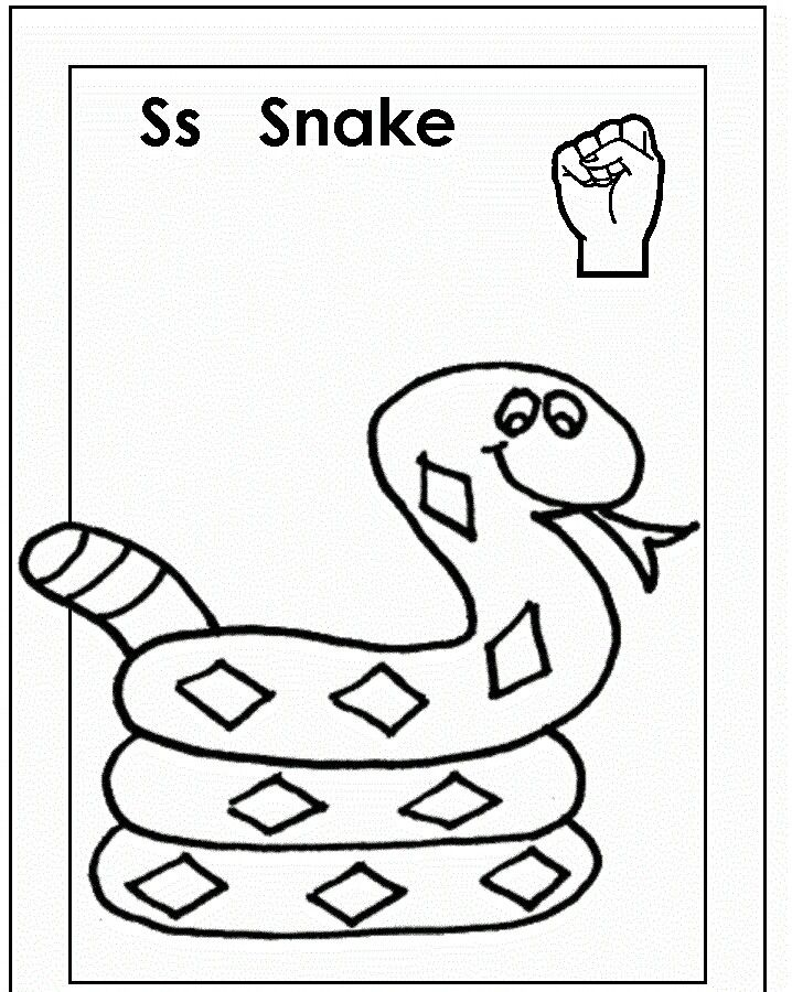 asl for s coloring page