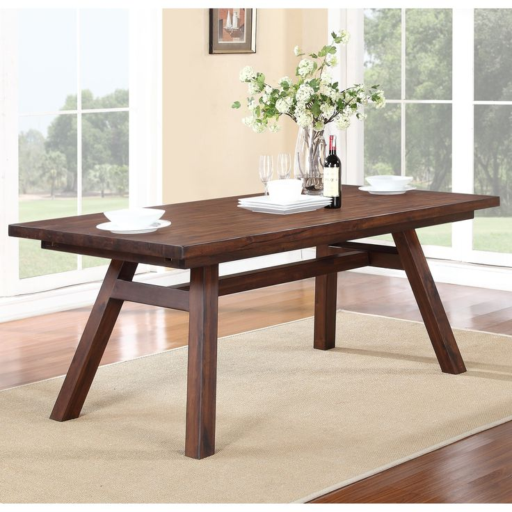 Modus Portland Solid Wood Rectangular Extension Table
