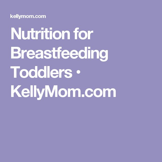 Nutrition for Breastfeeding Toddlers • KellyMom.com