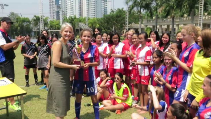 Winning Trophy Presentation JV Girl's Soccer Finals