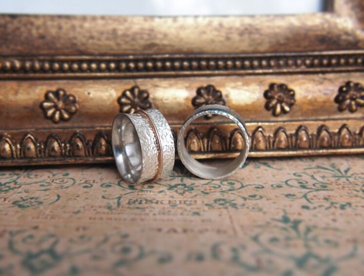Wedding rings. Gold and silver.