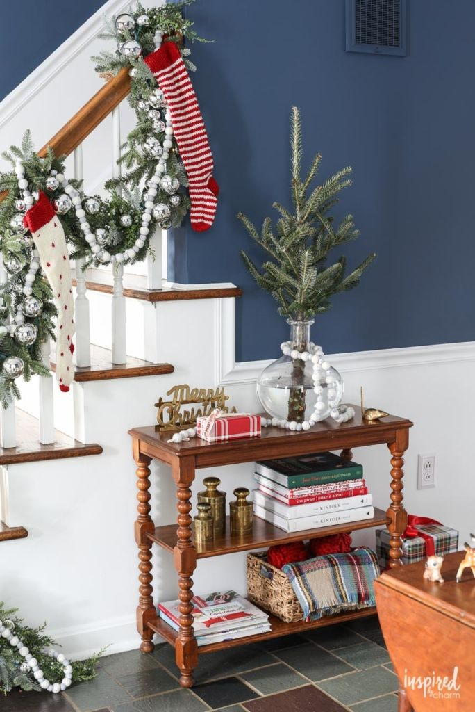 Christmas Entrance Decor Ideas Christmas At Bayberry House Holiday Home Tour With Color Christmas Decoration Ideas Ch Christmas Home Entrance Decor Decor