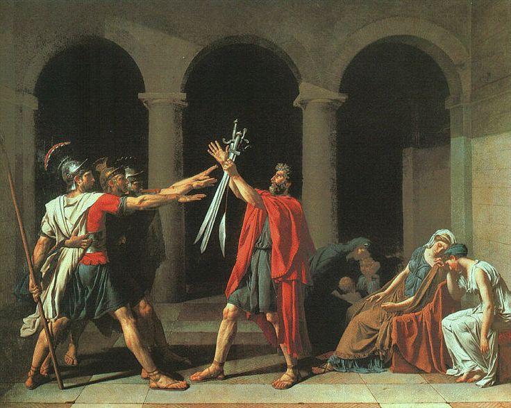 Juramento de los horacios. Neoclasicismo de Louis David.