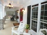Southern porches are the best.: Exterior Houses Colors, Dreams, Entir Front, Southern Porches, Beautiful Porches, Forever Houses, Outdoor Spaces, Coats, Doors Front Porches
