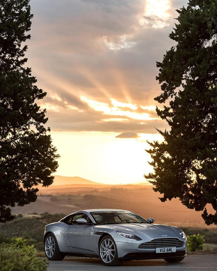 Perfection = a beautiful sunset and the DB11 #astonmartin #DB11