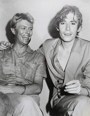 David Bowie and Richard Butler (of The Psychedelic Furs)