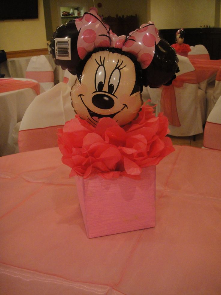 Nanisetc minnie mouse centerpiece balloon decorations