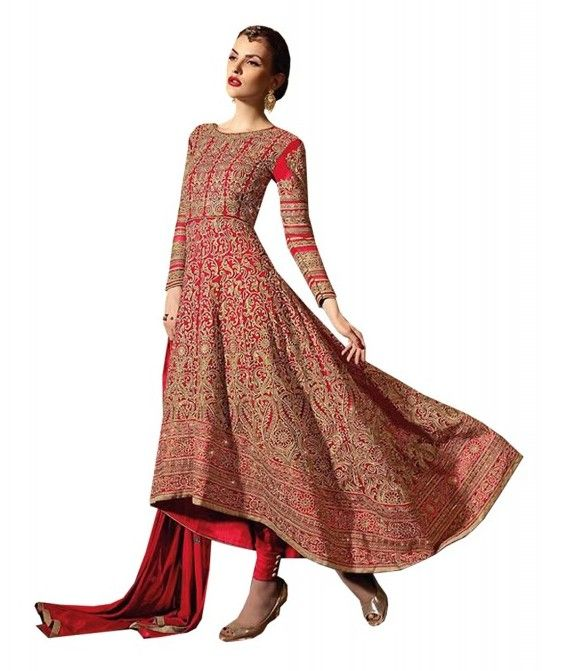 Add style to your appearance with this superb #DEEP #SCARLET #GEORGETTE #ANARKALI #SALWAR #SUIT. Buy now from India's best online shopping portal – http://ow.ly/FPdH303FBOQ and get 5% Off + free shipping (#India and #SriLanka only) if you have any problem talk to our customer representative on Live Chat today or #WhatsApp at +91 966-066-0088 !!!!