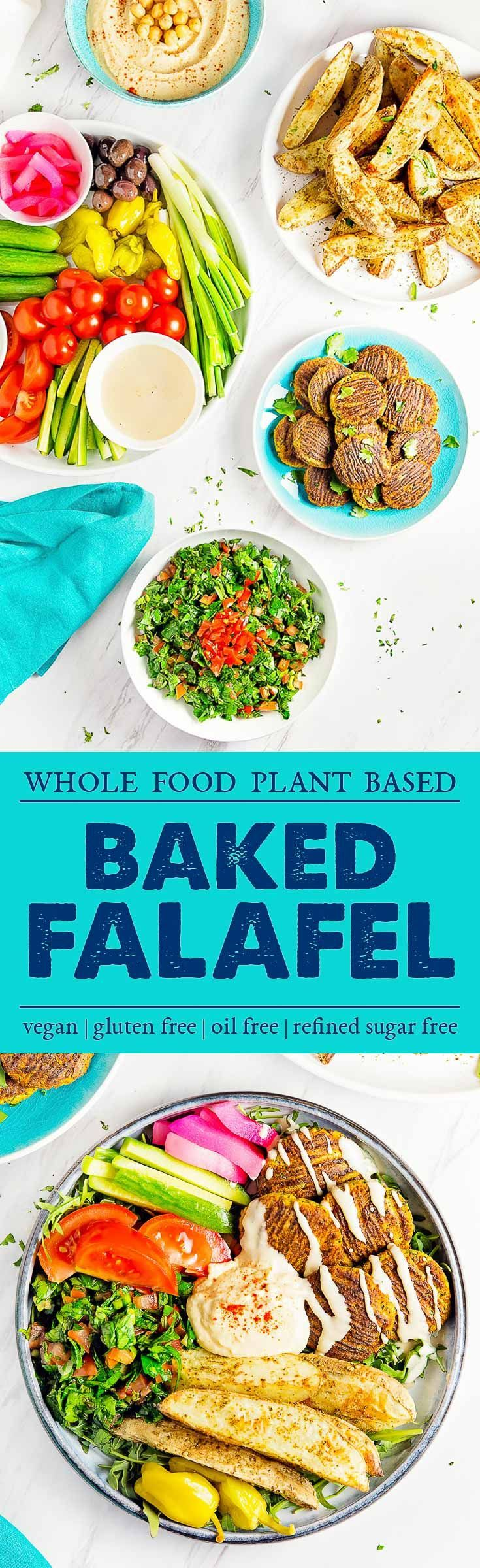 HEALTHY and DELICIOUS Baked Falafel! So easy and packed with tons of yummy flavor and wholesome ingredients! #vegan #glutenfree #oilfree #falafel #plantbased #refinedsugarfree #healthy #healthyvegan #monkeyandmekitchenadventures #recipe
