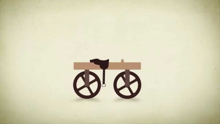 The evolution of the bicycle told with animation all the way from the wooden horse to the modern racer. Animation : Thallis Ville von Holck visualartwork.dk