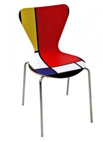 Quark Mondrian Style in betulla, Creativando (su ordinazione su dbliving.com).