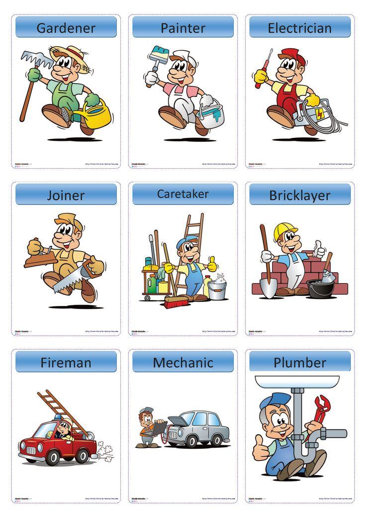 15 flashcards sur le thème des métiers