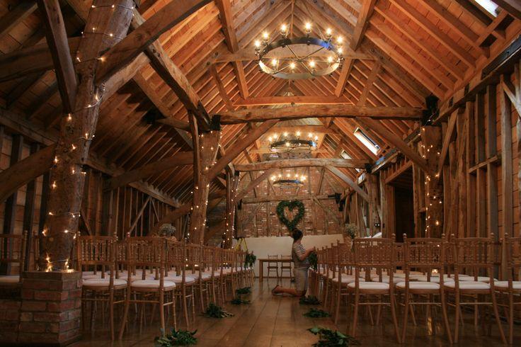 Preparing Bassmead Manor Barns for the wedding. the Rickety barn almost ready