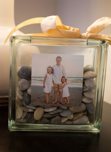 Glass block frame.  I can use our shells!