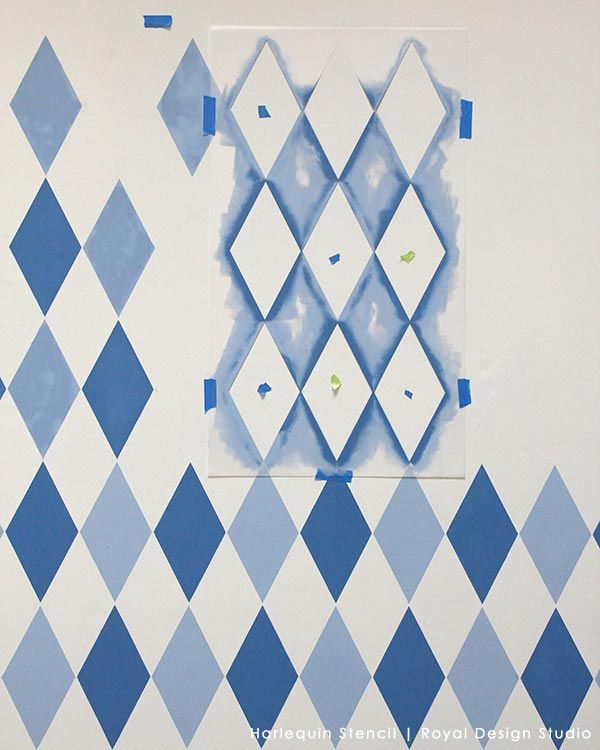 how to stencil harlequin diamond stencils for kids room and nursery - Stencils For Boys