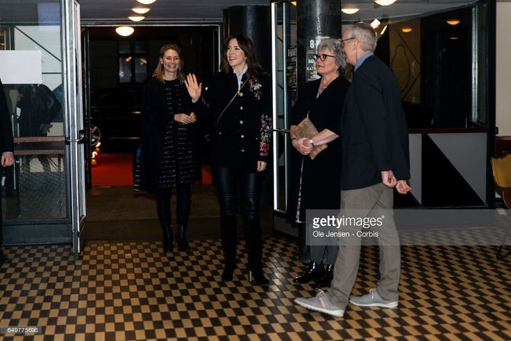 Crown Princess Mary of Denmark (C) arrives at The International Women's Day celebration at Vega on March 8, 2017 in Copenhagen, Denmark.