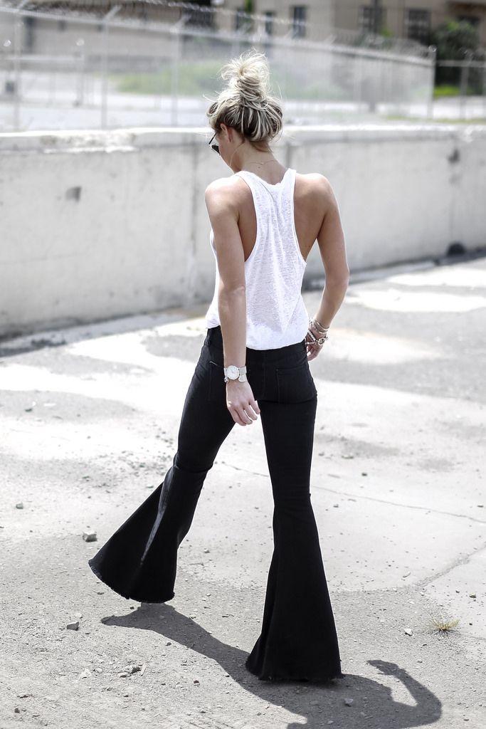 джинсы клеш, клешеные джинсы, брюки, 70-е, flare jeans, happily grey